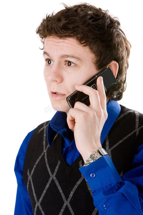 απομονωμένο λευκό τηλεφ στοκ φωτογραφίες με δικαίωμα ελεύθερης χρήσης