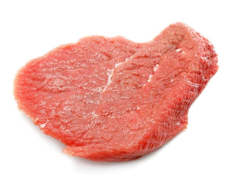 απομονωμένο λευκό φετών κρέατος κόκκινο στοκ εικόνα με δικαίωμα ελεύθερης χρήσης