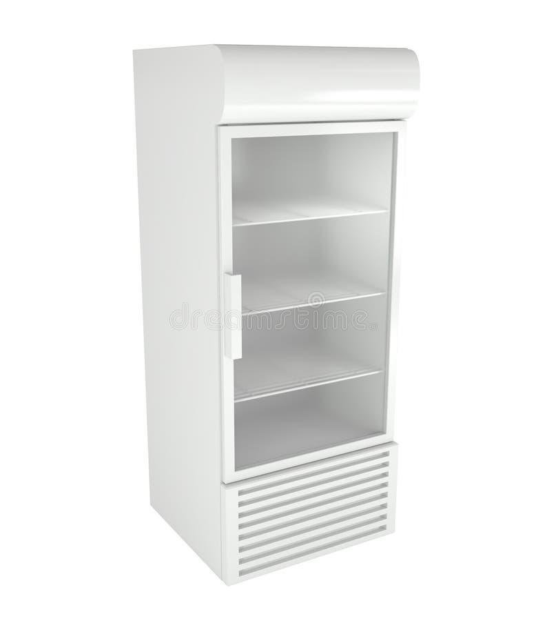 απομονωμένο λευκό ψυγείων αγοράς απεικόνιση αποθεμάτων