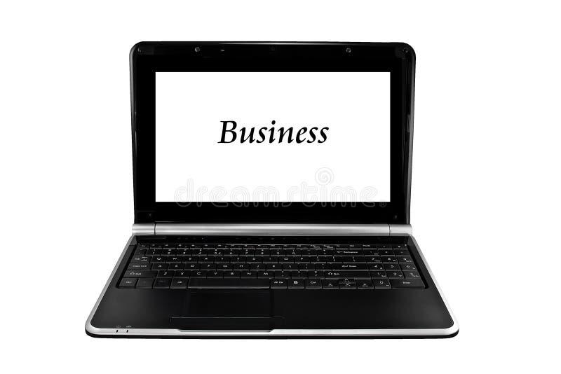 Download απομονωμένο λευκό Lap-top επιχειρησιακών υπολογιστών Στοκ Εικόνες - εικόνα από κινητός, ηλεκτρονικός: 22796082