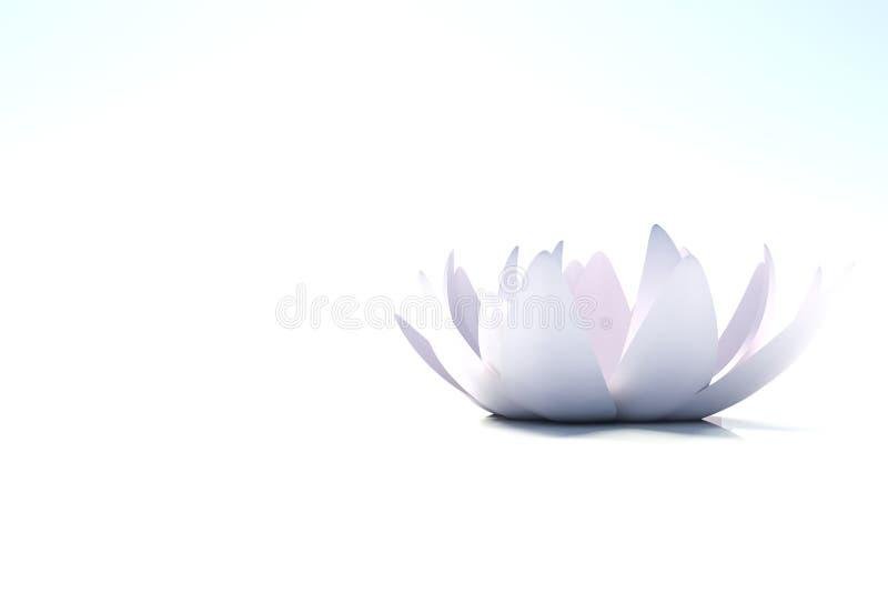απομονωμένο λουλούδι loto zen διανυσματική απεικόνιση