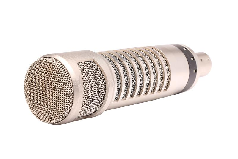 απομονωμένο μικρόφωνο στοκ εικόνες