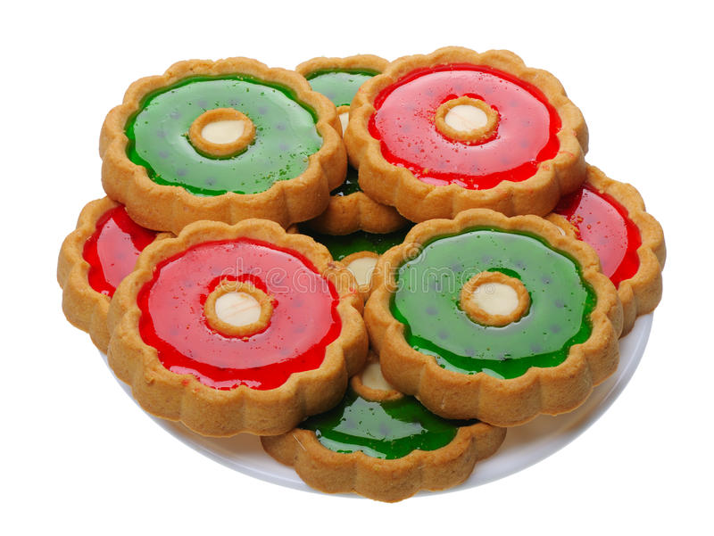 απομονωμένο μπισκότα λε&upsilon στοκ φωτογραφία με δικαίωμα ελεύθερης χρήσης