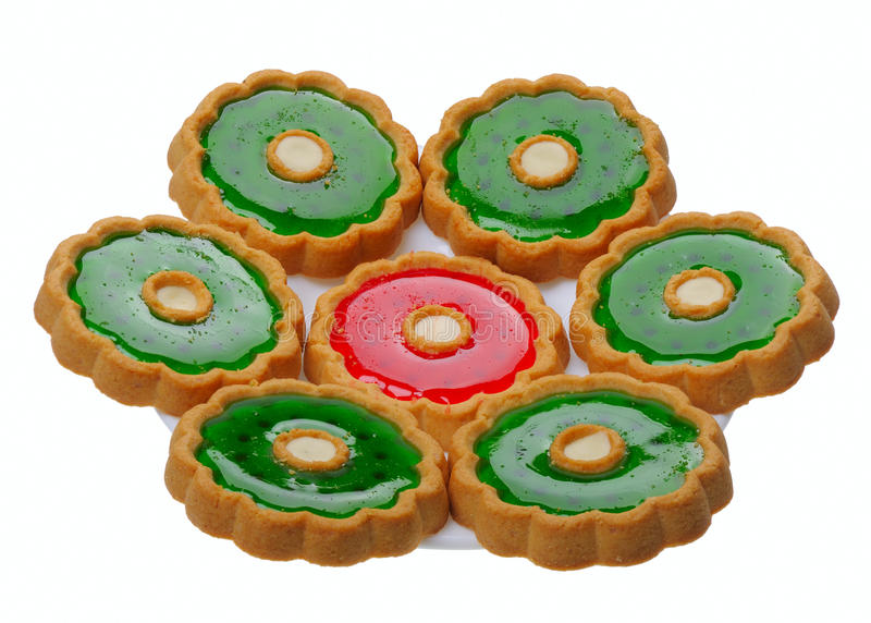 απομονωμένο μπισκότα λε&upsilon στοκ εικόνα