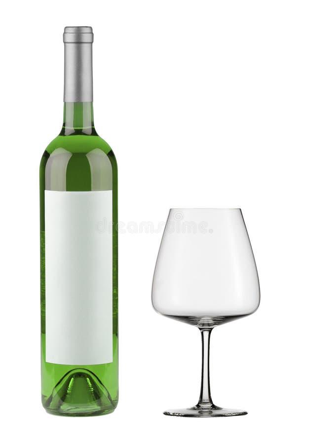 απομονωμένο μπουκάλι κρασί στοκ φωτογραφίες