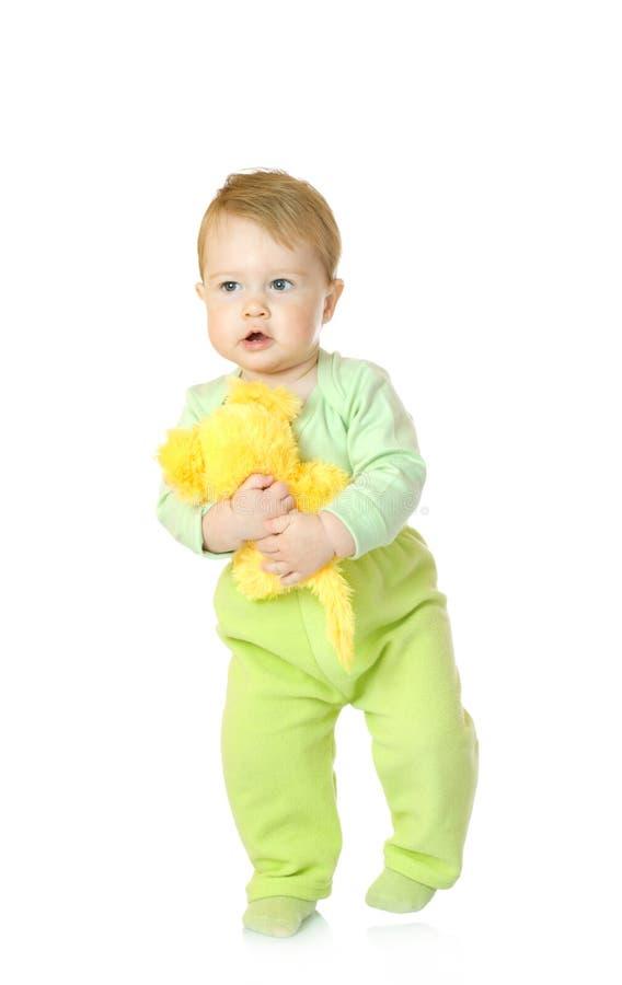 απομονωμένο μωρό μικρό παιχνίδι ποντικιών στοκ φωτογραφία