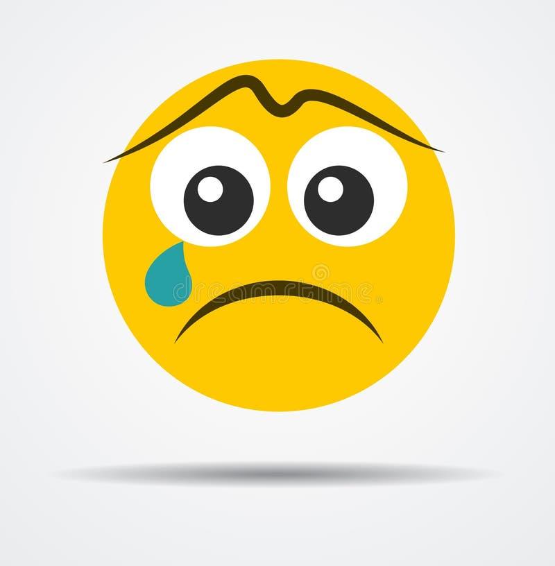 Απομονωμένο να φωνάξει emoji σε ένα επίπεδο σχέδιο διανυσματική απεικόνιση
