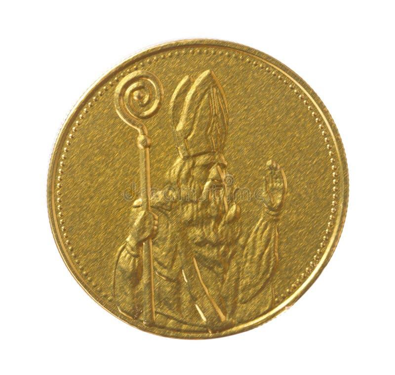 Απομονωμένο νόμισμα sinterklaas στοκ φωτογραφίες