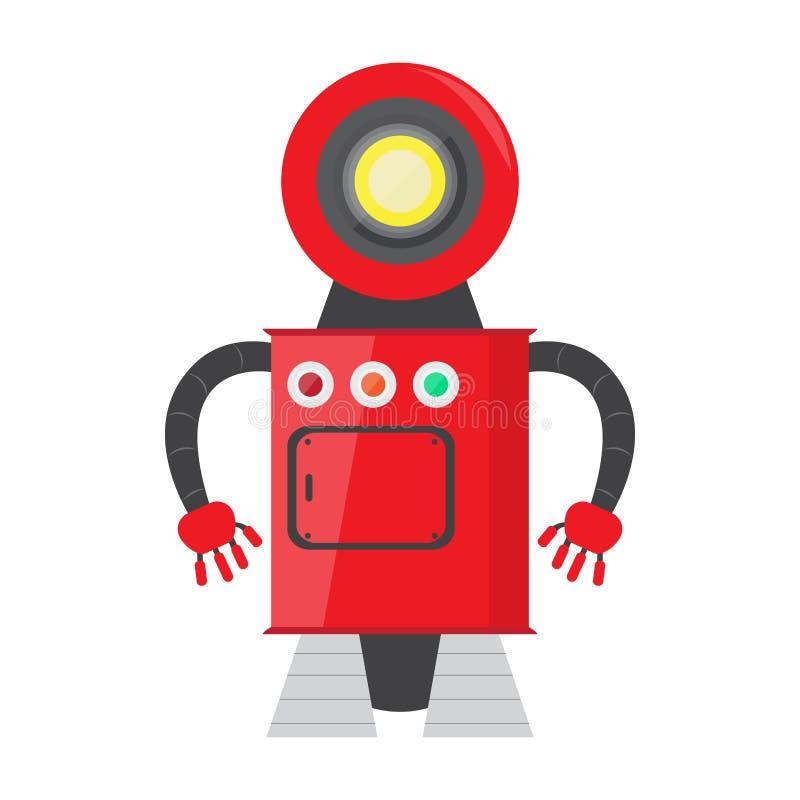 Απομονωμένο παιχνίδι ρομπότ - διάνυσμα διανυσματική απεικόνιση