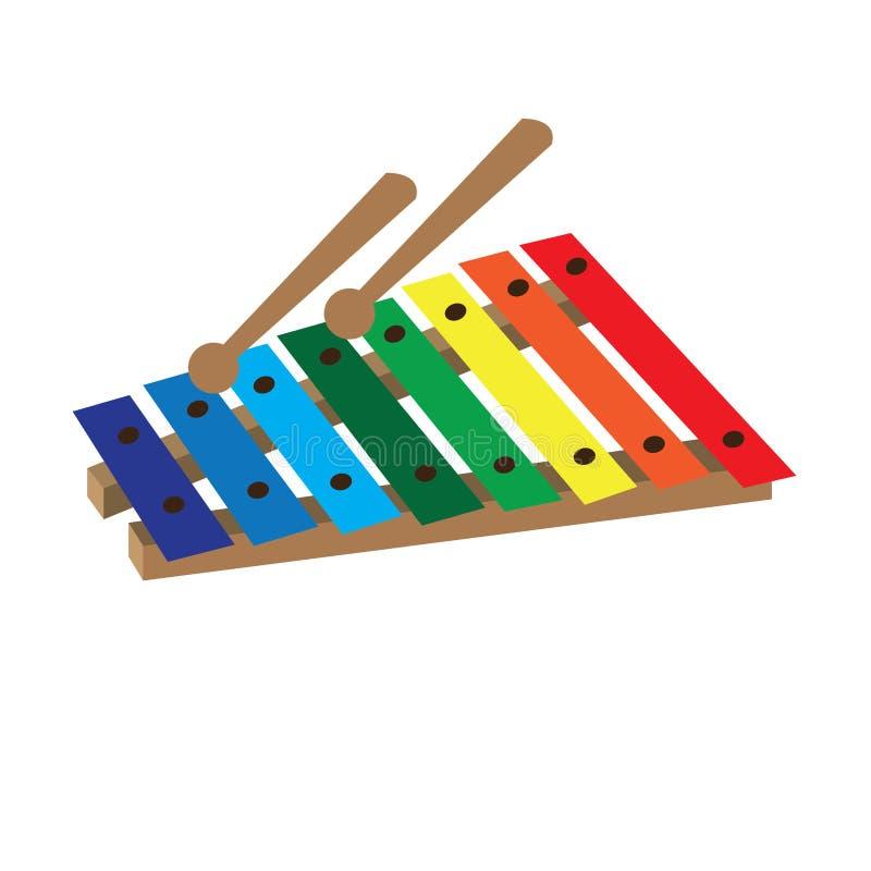 Απομονωμένο παιχνίδι xylophone ελεύθερη απεικόνιση δικαιώματος