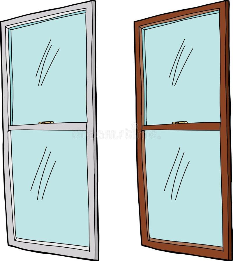 Απομονωμένο παράθυρο κινούμενων σχεδίων ελεύθερη απεικόνιση δικαιώματος
