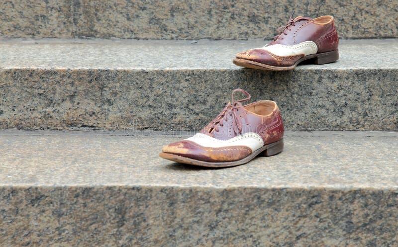 Παπούτσια στα βήματα στοκ φωτογραφία