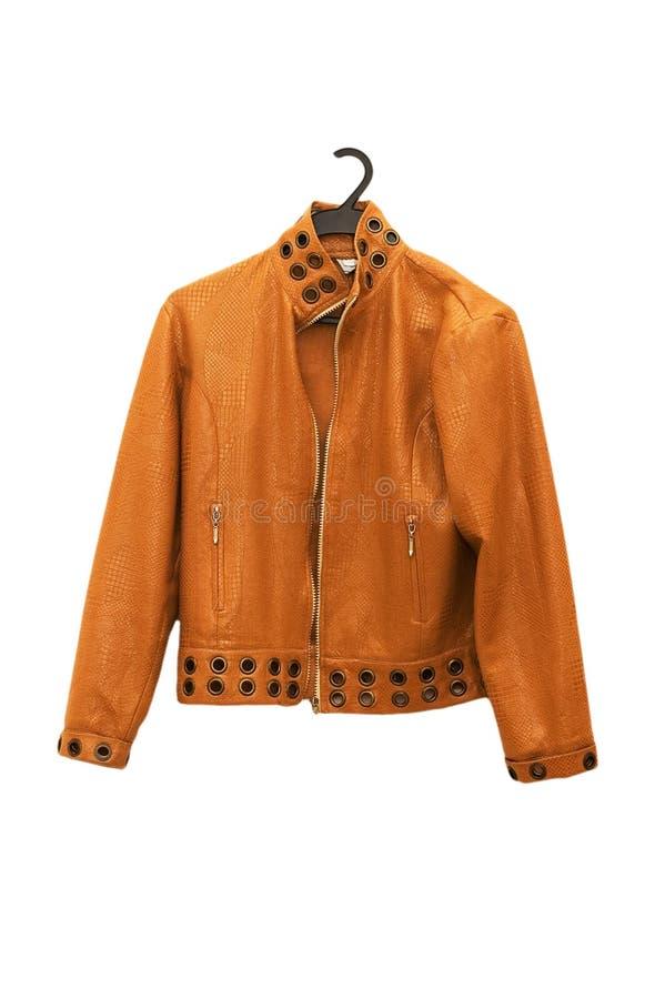 απομονωμένο πορτοκάλι σακακιών στοκ φωτογραφίες με δικαίωμα ελεύθερης χρήσης