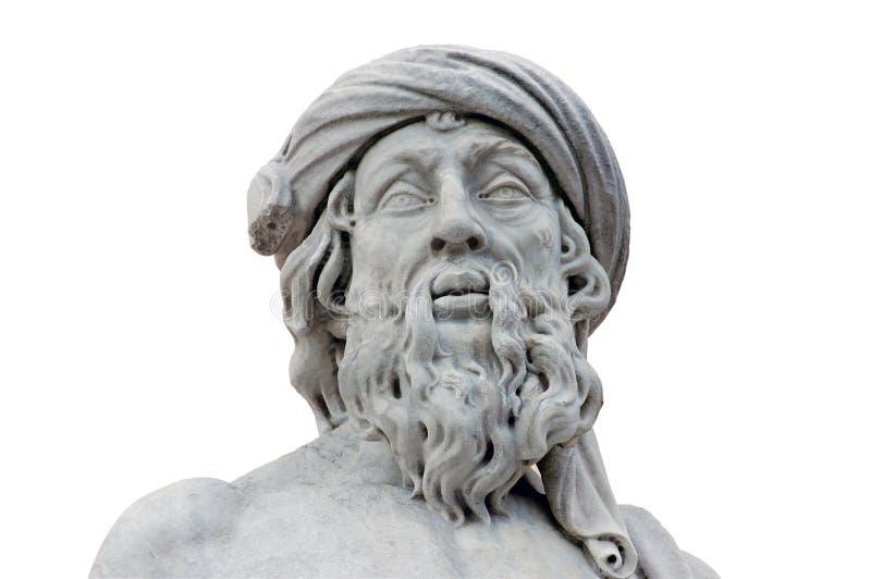απομονωμένο ρωμαϊκό άγαλμα στοκ φωτογραφίες με δικαίωμα ελεύθερης χρήσης