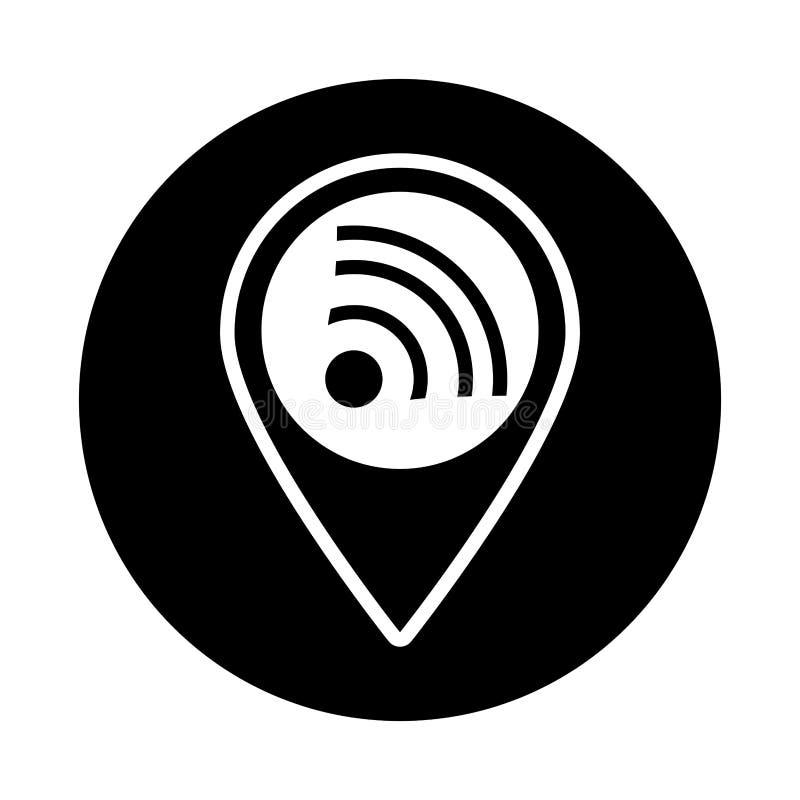 απομονωμένο σήμα εικονίδιο wifi ελεύθερη απεικόνιση δικαιώματος