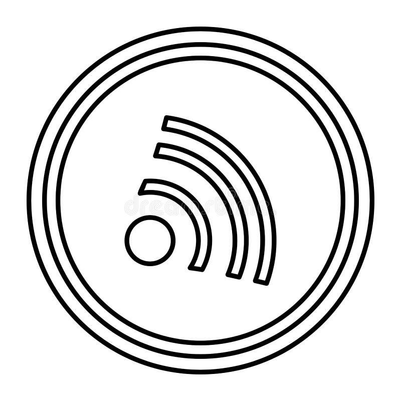 απομονωμένο σήμα εικονίδιο wifi διανυσματική απεικόνιση