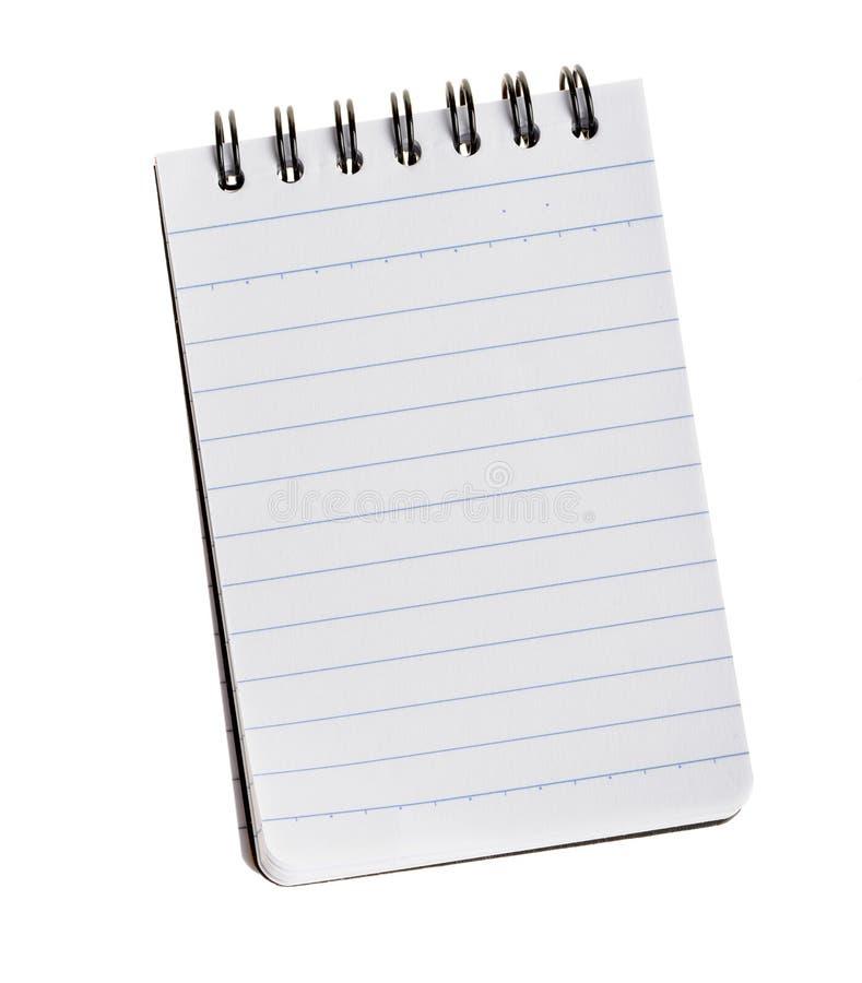 απομονωμένο σημειωματάρι& στοκ εικόνα με δικαίωμα ελεύθερης χρήσης