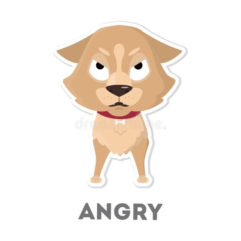 Απομονωμένο σκυλί ελεύθερη απεικόνιση δικαιώματος