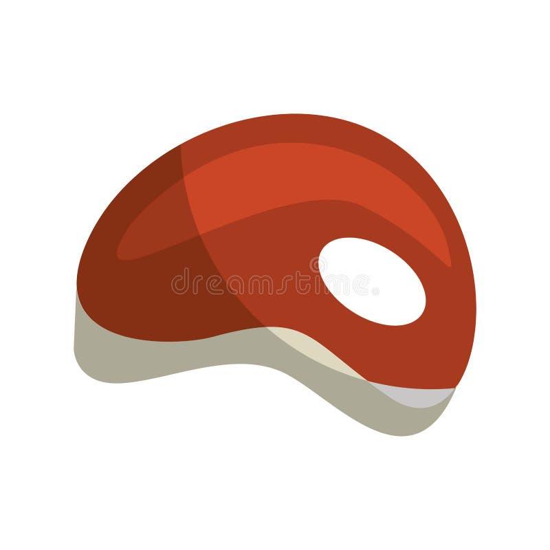 απομονωμένο σχάρα εικονίδιο κρέατος διανυσματική απεικόνιση