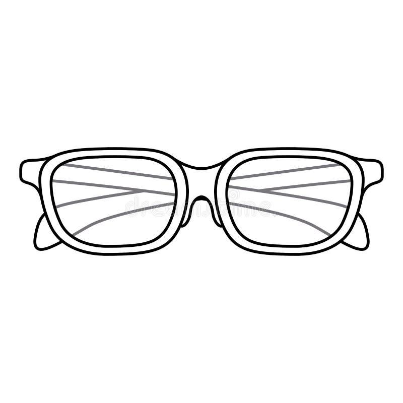 Απομονωμένο σχέδιο γυαλιών ελεύθερη απεικόνιση δικαιώματος