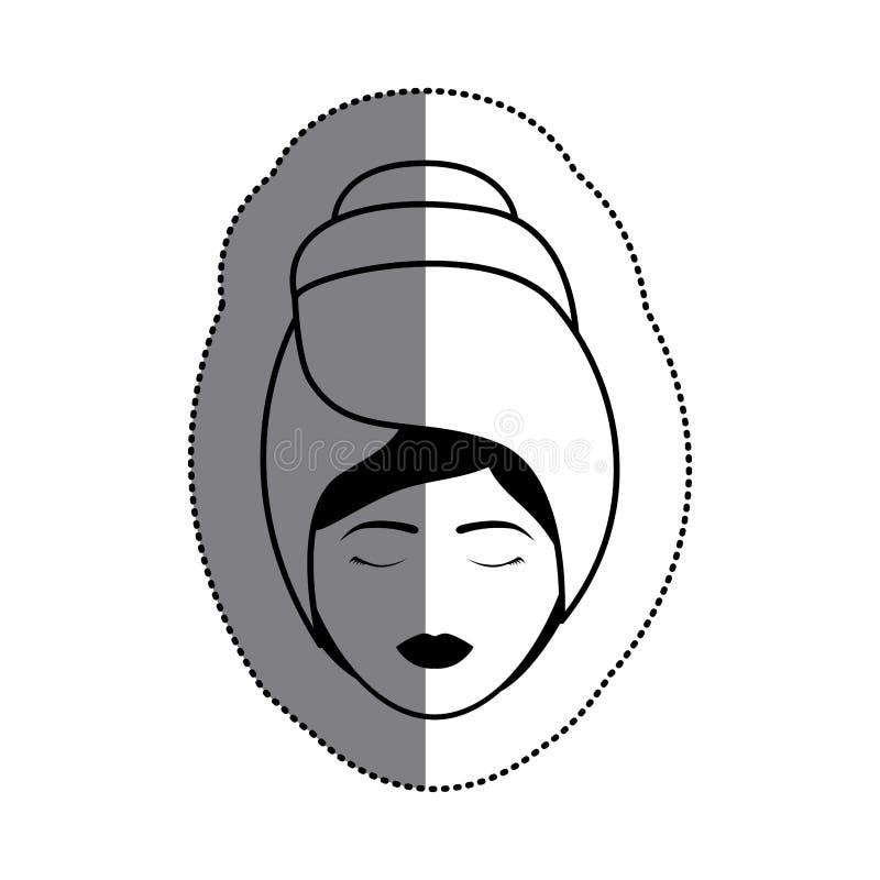 Απομονωμένο σχέδιο κεντρικής έννοιας γυναικών και SPA ελεύθερη απεικόνιση δικαιώματος