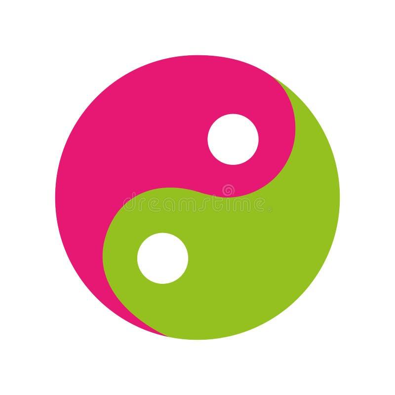 Απομονωμένο σύμβολο εικονίδιο Yin yang απεικόνιση αποθεμάτων