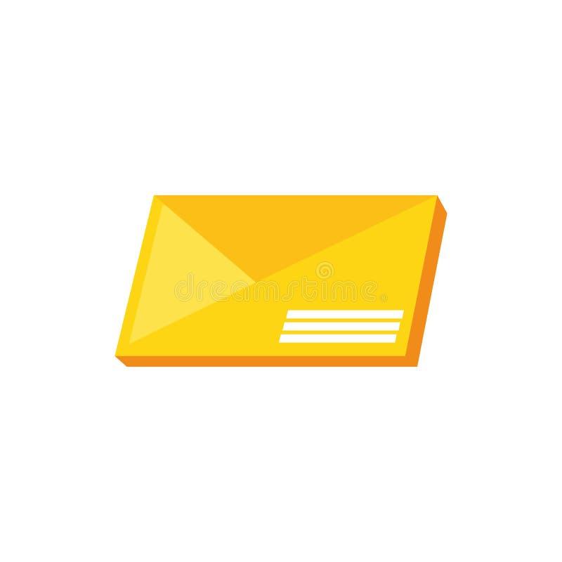 Απομονωμένο ταχυδρομείο εικονίδιο φακέλων απεικόνιση αποθεμάτων