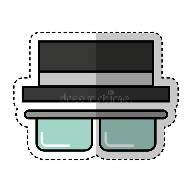 απομονωμένο τουρίστας εικονίδιο καπέλων απεικόνιση αποθεμάτων