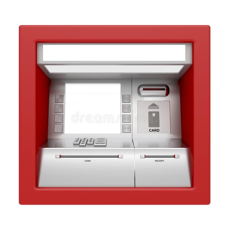 απομονωμένο το ATM λευκό μη&chi ελεύθερη απεικόνιση δικαιώματος