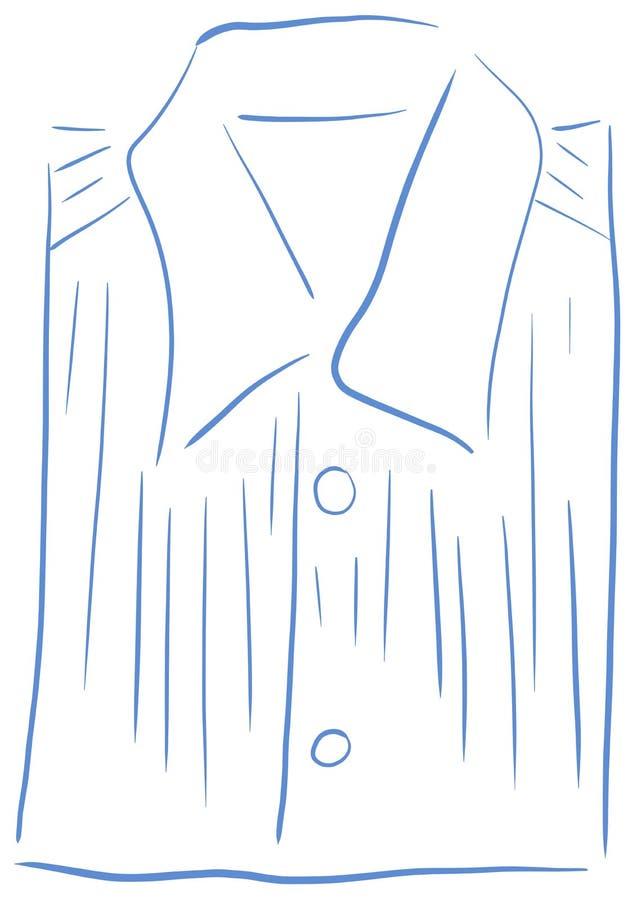 Απομονωμένο τυποποιημένο πουκάμισο στο μπλε ελεύθερη απεικόνιση δικαιώματος