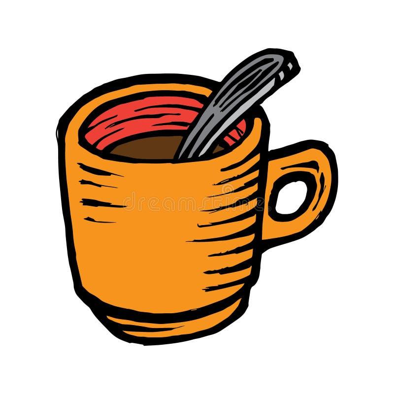 Απομονωμένο φλυτζάνι εικονίδιο τσαγιού και καφέ ελεύθερη απεικόνιση δικαιώματος