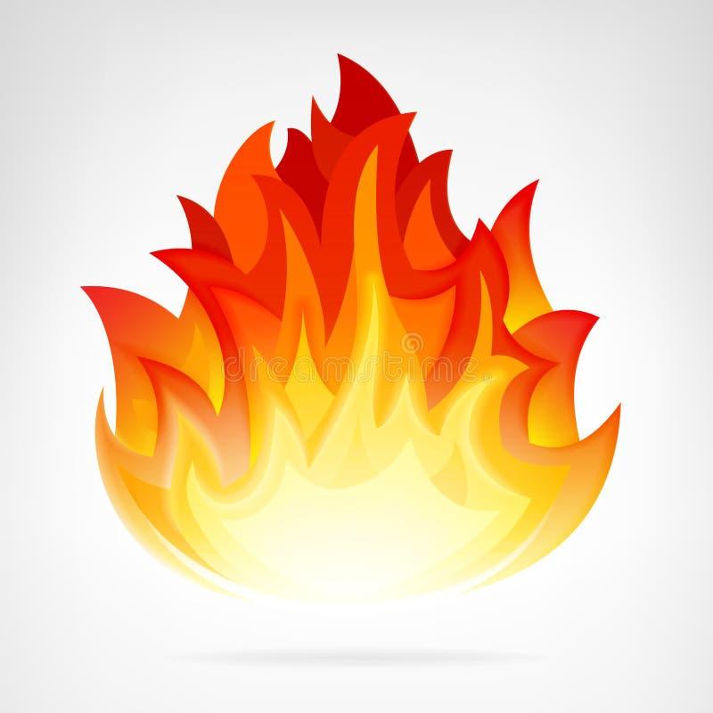 Απομονωμένο φλόγα διανυσματικό στοιχείο πυρκαγιών απεικόνιση αποθεμάτων