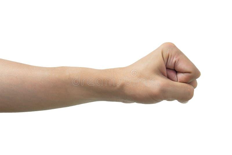 Απομονωμένο χέρι πυγμών στοκ φωτογραφίες