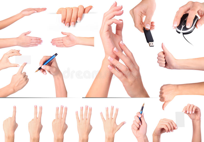 απομονωμένο χέρι σύνολο χ&epsi στοκ εικόνες με δικαίωμα ελεύθερης χρήσης