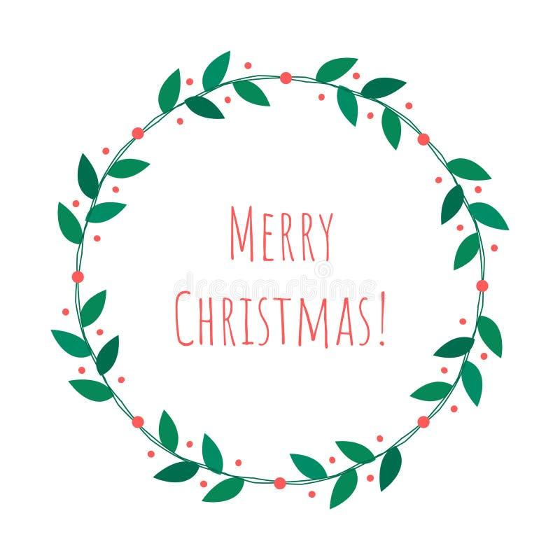 Απομονωμένο Χριστούγεννα στεφάνι ελεύθερη απεικόνιση δικαιώματος