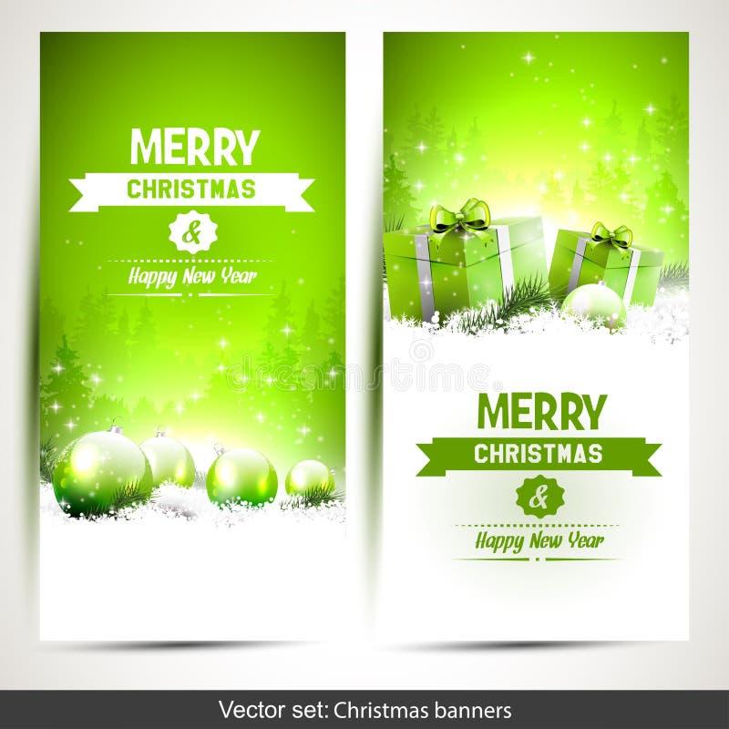 απομονωμένο Χριστούγεννα σύνολο εμβλημάτων διανυσματική απεικόνιση