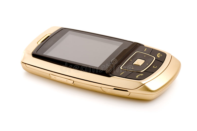 απομονωμένο χρυσός τηλέφω στοκ φωτογραφίες με δικαίωμα ελεύθερης χρήσης