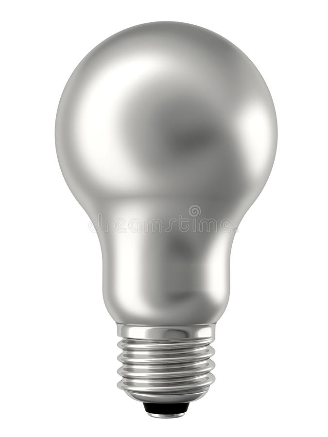 απομονωμένο lightbulb ασημένιο λ&epsi στοκ εικόνα με δικαίωμα ελεύθερης χρήσης