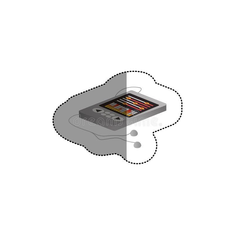 Απομονωμένο mp3 σχέδιο συσκευών διανυσματική απεικόνιση