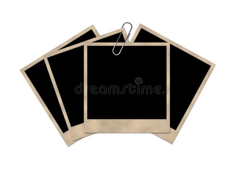 Απομονωμένο polaroid σε μια άσπρη ανασκόπηση στοκ εικόνα με δικαίωμα ελεύθερης χρήσης