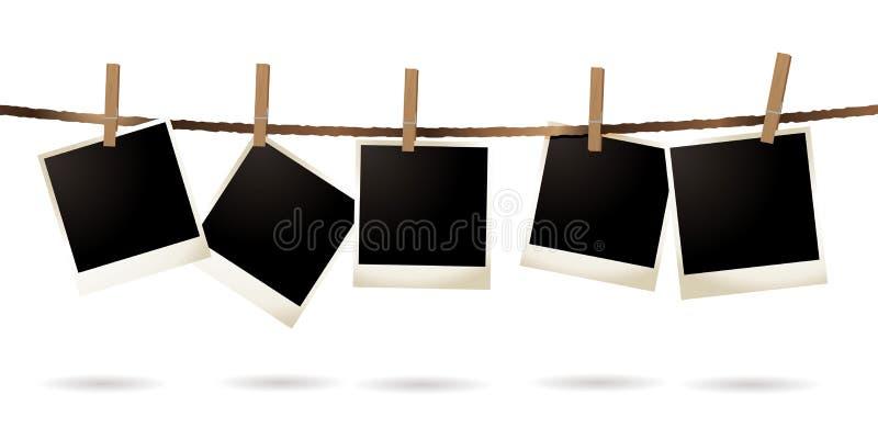 απομονωμένο polaroid ελεύθερη απεικόνιση δικαιώματος