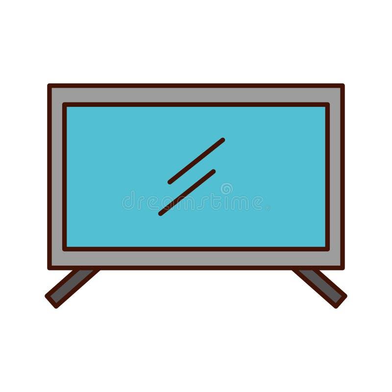 απομονωμένο TV εικονίδιο πλάσματος απεικόνιση αποθεμάτων