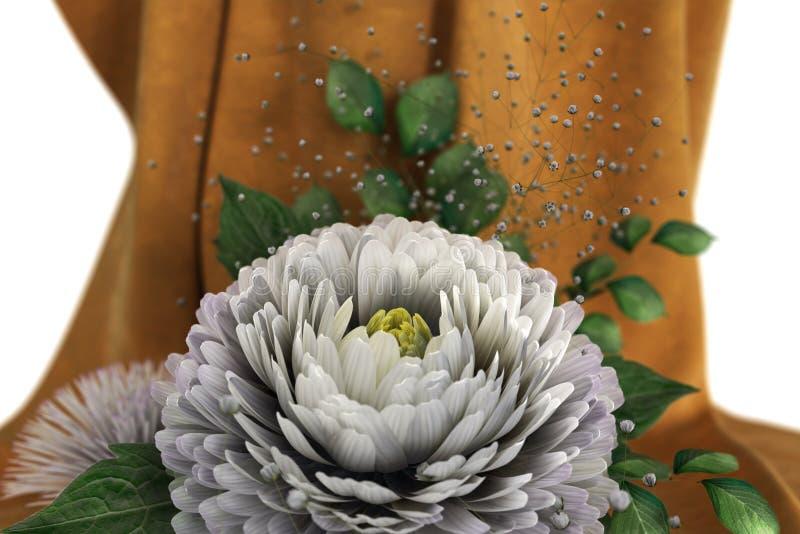 Απομονώστε την ανασκόπηση διακοπών με τα λουλούδια στοκ φωτογραφίες με δικαίωμα ελεύθερης χρήσης
