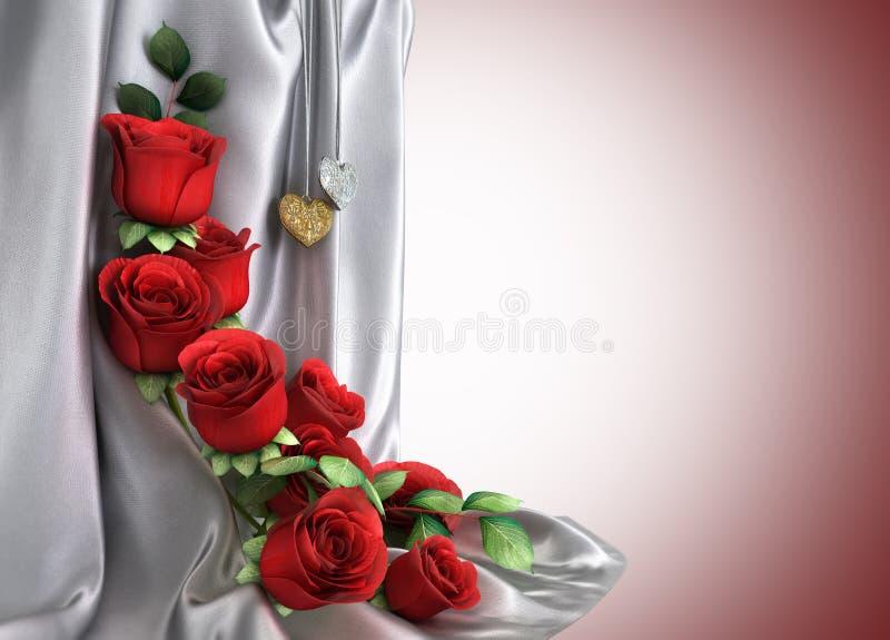 Απομονώστε την ανασκόπηση διακοπών με τα τριαντάφυλλα απεικόνιση αποθεμάτων