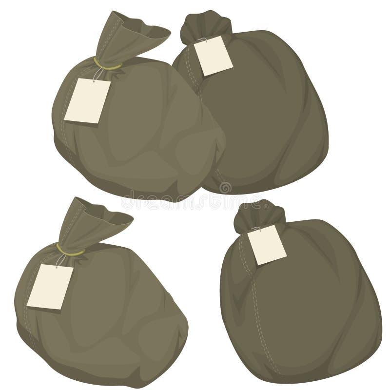 Απομονώστε την τσάντα ταχυδρομείου απεικόνιση αποθεμάτων