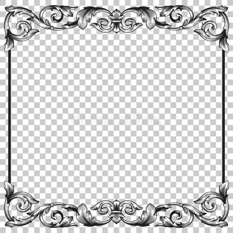 Απομονώστε τη διακόσμηση στο μπαρόκ ύφος διανυσματική απεικόνιση