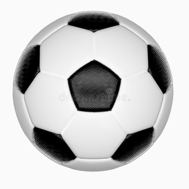 Απομονώστε τη σφαίρα ποδοσφαίρου στοκ εικόνες
