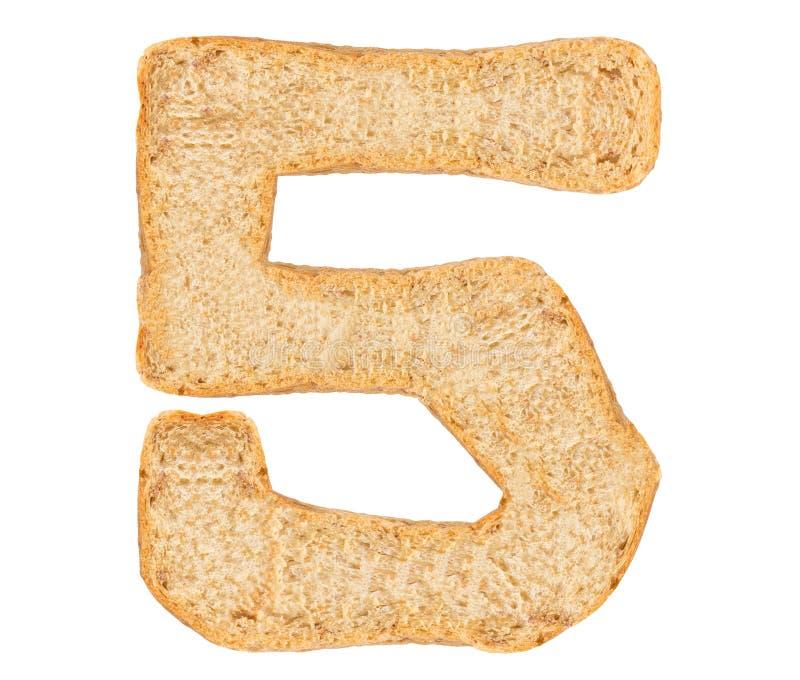 Απομονώστε τον αριθμό ψωμιού στοκ φωτογραφία