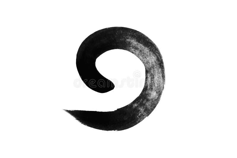 Απομόνωση κύκλου σχεδίασης με μελάνι στο φόντο στοκ εικόνα