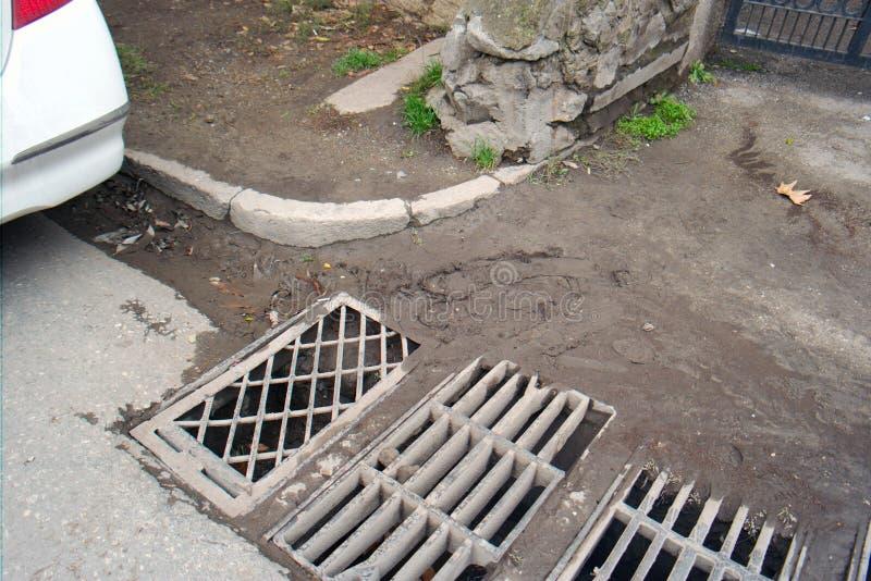 Αποξήρανση νερού επιφάνειας στοκ φωτογραφία